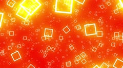 Flying Squares Orange Abstract Psychedelic VJ Background Loop Rotate Right - stock footage