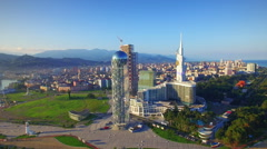 Aerial view of Batumi - stock footage