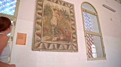Famous Venus mosaic found in Carthage ruins Stock Footage