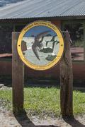 Iguazu Park Signpost Stock Photos