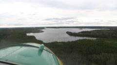 Plane landing on a lake Stock Footage