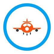 Stock Illustration of Aircraft Rounded Glyph Icon