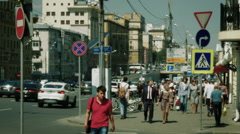 People go on Novinsky Boulevard - stock footage