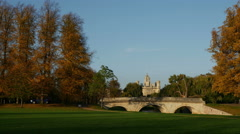 """Trinity College Bridge"" ""River Cam"" Cambridge Stock Footage"