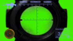 Sniper - Video Game - Blue 01 Stock Footage