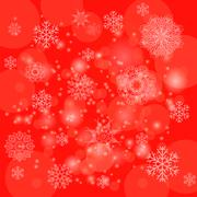 Abstract Winter Pattern. Snowflakes Background - stock illustration