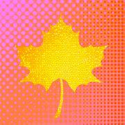Autumn Yellow Leaf Stock Illustration