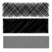 Stock Illustration of Set of Black Diagonal Strokes Patterns