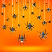 Set od Grey Spiders - stock illustration