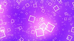Flying Squares Purple Abstract Psychedelic VJ Background Animation Loop Stock Footage