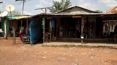 Africa market road - stock footage