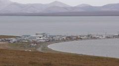 Inupiat Eskimo Village in Alaska Stock Footage