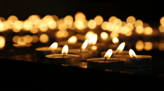 Group of Candles 1 Stock Footage