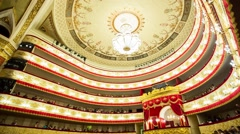 Interior Alexandrinsky theatre in Saint-Petersburg, Russia Stock Footage