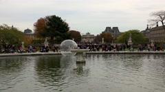 Tuileries Gardens in Paris. France. 4K. Stock Footage