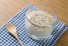 Healthy Homemade Yoghurt Topping with Porridge Oats, Nutritionally Rich in Pr Stock Photos