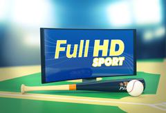 sport on full hd format - stock illustration
