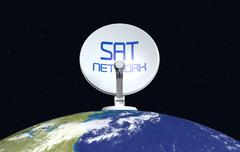 Concept of satellite network- Elements of this image furnished by NASA Stock Illustration