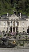 Linderhof Palace water fountain garden Bavaria Germany vertical HD Stock Footage