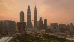 Kuala Lumpur,Malaysia Skyline. Stock Footage