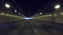 Driver's POV Exiting Fort Pitt Tunnel in Pittsburgh   Stock Footage