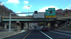 Entering Fort Pitt Tunnel  	 Stock Footage
