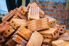 Scrap Bricks and Brickbat - stock photo