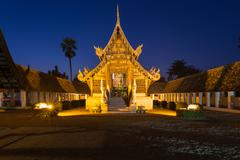 Wat Ton Kain, Old wooden temple in Chiang Mai Thailand. - stock photo