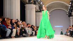 Larisa LOBANOVA presentation during Ukrainian Fashion Week 2015, Kiev, Ukraine. Stock Footage