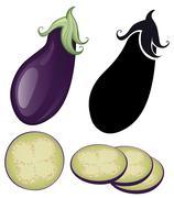 stylized eggplant - stock illustration