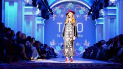 TAGO (Olga NAVROTSKA) presentation. Ukrainian Fashion Week 201, Kiev, Ukraine.5 Stock Footage