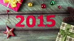 New year 2015 calendar - stock footage