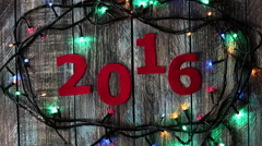 New year 2016 calendar decoration background Stock Footage
