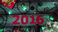New year 2016 calendar Stock Footage