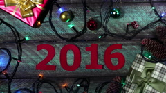 New year 2016 calendar Stock Footage