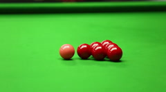 Snooker ball Stock Footage