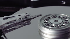 Stock Video Footage of Loop Ready Macro of a Opened hard drive