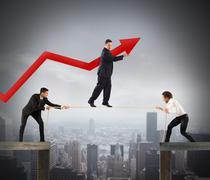 Teamwork help growth Stock Photos