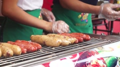 Taiwan Culinary getting rosted Stock Footage