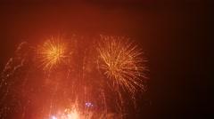 Stock Video Footage of Fireworks Display in Aberdeen, Scotland UK