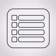 expand menu icon - stock illustration