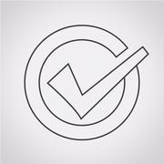 Tick icon Stock Illustration