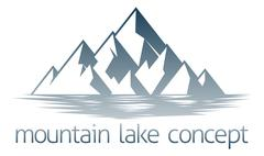 Mountain Lake Concept - stock illustration