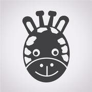 Stock Illustration of Giraffe Face Icon