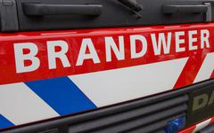 Front of a dutch fire truck - stock photo
