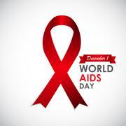 Red Ribon - Symbol of 21 December World AIDS Day Stock Illustration