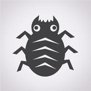Cyber Bug Icon - stock illustration