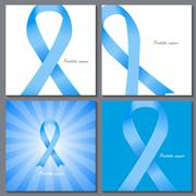 Prostate Ð¡ancer Awareness Blue Ribbon Vector Illustration Stock Illustration