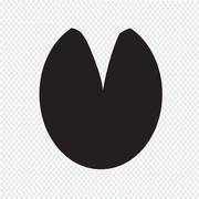 horse footprint icon - stock illustration