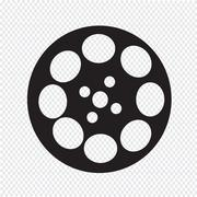 Video film  icon Stock Illustration